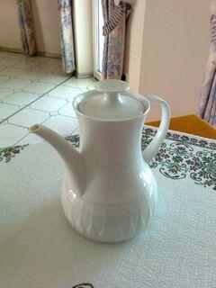 Thomas Lanzette weiß Kaffeekanne - neu - Burgwald