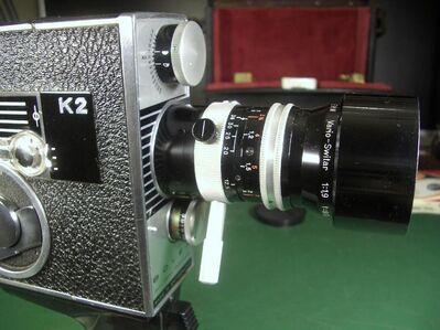 BOLEX PAILLARD K2 - ZOOM REFLEX AUTOMATIC - OBJETIVO KERN VARIO SWITAR 1:1,9 F=8 mit sehr viel Zubehör - Oberhaching