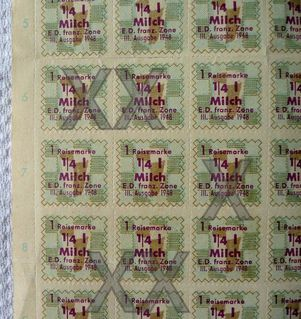 Konvolut Lebensmittelmarken v. Rheinland Pfalz 1949/1950 - Niederfischbach