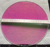 0126 ERCO magenta Farbfilter Scheibe rund Durchm. 205 x 3mm 0126