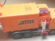großes Müllauto,MAN Müll-LKW, Lotos, Marke bruder, orange Länge 50cm