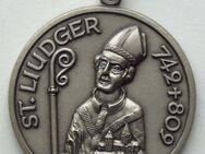 Medaille Werdener Kirchweihen 1975, mit St. Liudger - Münster