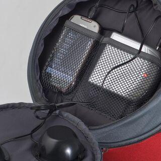 Kühltasche mit Lautsprecher - Red * Kühlrucksack in rot mit Lautsprechern - Schotten