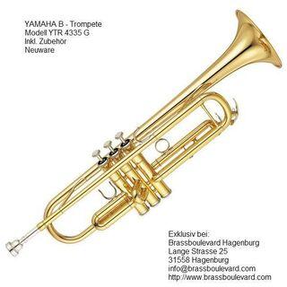 Orig. Yamaha YTR 4335G, B-Trompete. originalverpackte Neuware mit Garantie - Hagenburg