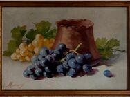 Antik-Gemälde WALTER MEINIG (1902), Stilleben mit Trauben um 1920! - Berlin