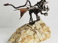 Drache Skulptur Figur Fantasy Metall Kupfer Kunst Werk Handarbeit Unikat Deko - Großhansdorf