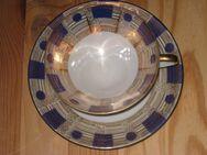 Bavaria Porzellan, Sammeltasse und Untertasse, gold/blau, Ausstellungsstück - Sehnde