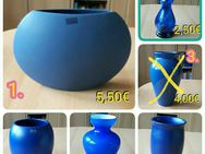 Vasen blau + orange, Keramik + Glas - Immenhausen