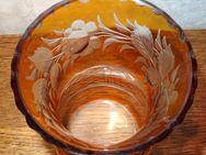 Antike Bernsteindekor Vase, mit Zackenrand, Josephinenhütte - Hamburg Hamburg-Nord