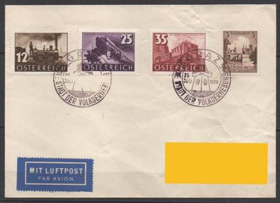 DR-Österreich,25.07.1938,Mi.Nr665+Mi:AT646-48,  Lot 291 -