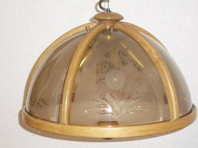 Deckenlampe echt Eiche Natur, 5 Glühbirnen, höhenverstellbar - Baunatal