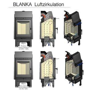 Kratki Kaminbausatz Blanka 8 mit 8 kW und Schwarzen Kacheln - Hamburg Wandsbek