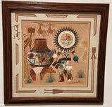 Keith Silversmith Sandgemälde Kachina Geist Schamane Azteken Mexico Navajo Tribal Kunst