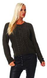 Damen Strick Pullover von All About Eve khaki Größe M (10),Neu