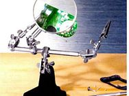 Feinmechanikerlupe 2,5 fach Vergrößerung - Die 3. Hand - NEU / OVP - Groß Gerau