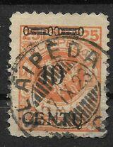 DR Memelgebiet  10 CENTU auf 25 M,1923 Mi:169,Lot 1286