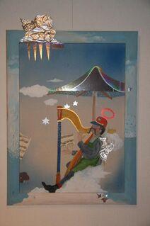 Leonore Zimmermann 4 Gemälde Engel Aloisius - Erding