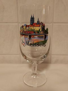 Albrechtsburg Schloss Meissen Porzellan Manufaktur Ansicht Glas Tulpe DDR - Nürnberg