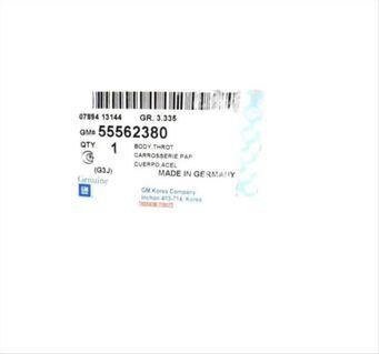 DROSSELKLAPPE CHEVROLET ORLANDO CRUZ 55562380 A2C53192017 NEU - Dortmund Wickede