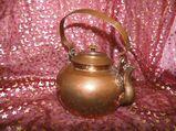Antiker Kupferkessel, Wasserkessel Kupfer ca.1880 / Kupferkanne Schmiedearbeit
