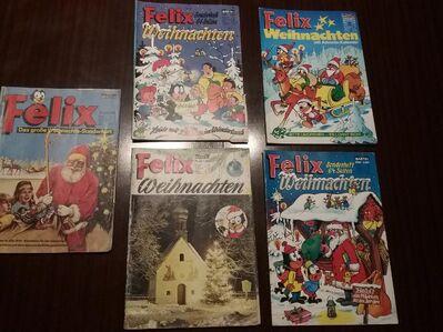 5 Felix Weihnachts Sonderhefte von 1966 bis 1970 abzugeben. - Baumholder Zentrum
