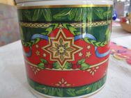 Porzellan Dose Weihnachts-Muster (Grün, Rot, Blau) Heinrich Winterling - Weichs