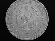 5-Reichsmark-Münze 1936, 900er-Silber. Hindenburg+Reichsadler - Münster