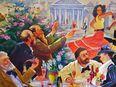 XL Ölgemälde Kuba Latina Flamenco Tanzen Lokal Champagner Havanna Frau Bar - Nürnberg