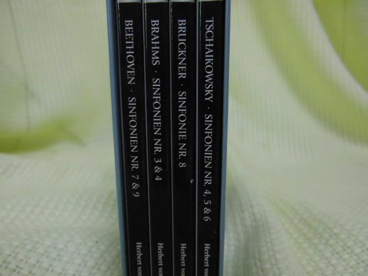 4 DVD`s Große Sinfonien Herbert von Karajan / Berliner, Wiener Philharmoniker - Zeuthen