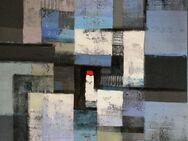 Großes neues BALI-Gemälde (110x130cm), Komposition mit rotem Viereck!!!! - Berlin