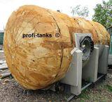 V²A Edelstahltank 7.500 L Lagerbehälter isoliert eine Seite offen