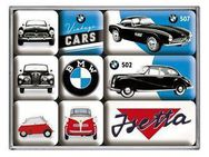 9-teiliges Magnet-Set Vintage Cars BMW - Bochum