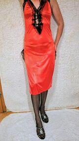 Nachtkleid / Kleid / Lingerie / Rot / Gr. M / Dessous