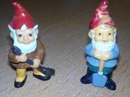 """Ü-Eier """" Zwerge """" Blumentopf + Jahreszeiten + Badezimmer + Zunft und Küchen Zwerge von 1988 - 1999 - Verden (Aller) Zentrum"""