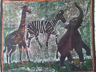 Wandbild Tuch mit afrikanischem Motiv 83x70 - Hamm