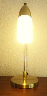 Tischleuchte ♫ Tischlampe im Gold Design ♫ mit Energiespar Leuchtmittel