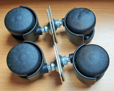 Möbel Transportrollen aus Kunststoff Ø 40 mm Tragkraft 30kg - Verden (Aller)
