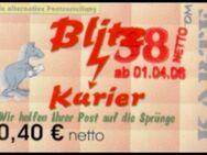 """Blitz-Kurier: MiNr. 14 B, 00.00.2006, """"2. Ausgabe, Aushilfsausgabe III"""", Wert zu 0,38 auf 0,40 EUR netto, glänzendes Papier, postfrisch - Brandenburg (Havel)"""
