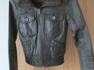 dunkelbraune Leather Lightning Jacke von Only