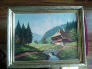 Altes Gemälde Haus im Schwarzwald - Hagen (Stadt der FernUniversität) Dahl