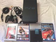 PlayStation 2 Sony PS2 PS FAT Konsole 4 x Spiele 1 Controller Memory Card - Regen