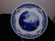 Kahla Porzellan Wandteller Teller 24 cm Claude Lorrain Deko weiß blau DDR Vintage Retro 3,- - Flensburg