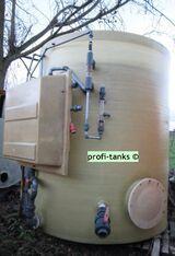 P52 - Polyestertank 6-10 m³ GFK-Tank Mischtank Soletank inkl. Mischstation Mischbehälter Reichtank stehend