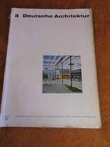 Deutsche Architektur, 3. Jahrgang März 1963 / Berlin Zeitschrift DDR /
