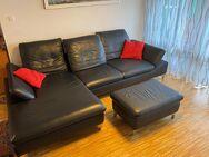 Longchair Sofa W.Schilling Leder dunkelblau - Gerlingen