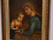Ölgemälde Antik Heilige Anna Jungfrau Maria Mutter Gottes Ikone Madonna - Nürnberg