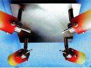 4er Deckenleuchte von Atlas - Mit farbigen Glasschirmen - G9 LED-Strahler - Groß Gerau