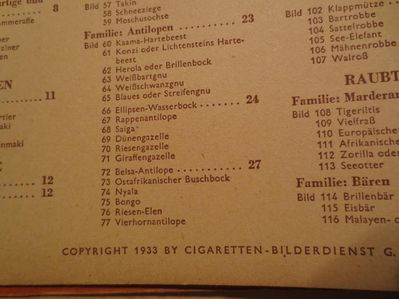Cigaretten Bilderdienst  -  Wunder der Tierwelt - Essen