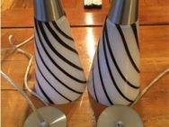 2 Pendelleuchten/Bar Lampen aus Glas Keramik