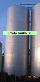 Edelstahltank gebraucht 106.000 L V²A Lebensmitteltank stehend Weintank Molketank Wassertank Rapsöltank Futtermitteltank